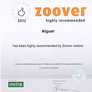 Prizes and awards: Zoover Award 2012