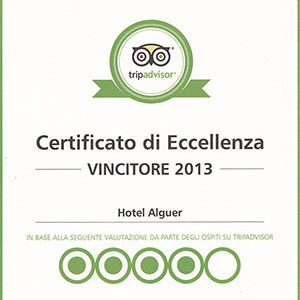 Prizes and awards: Tripadvisor Certificate of Excellence 2013