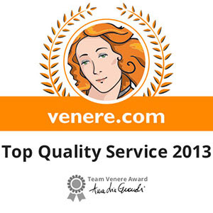 Prizes and awards: Venere.com Top Quality Service 2013