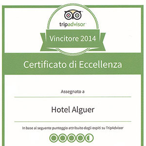Prizes and awards: Tripadvisor Certificate of Excellence 2014