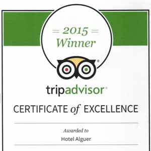 Prizes and awards: Tripadvisor Certificate of Excellence 2015