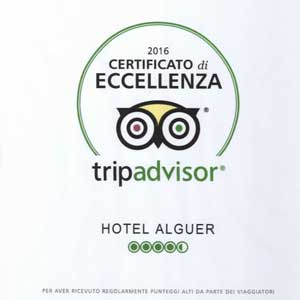 Prizes and awards: Tripadvisor Certificate of Excellence 2016