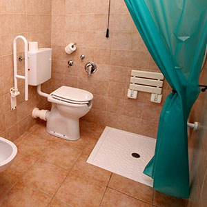 Rooms: Bathroom equipped for disabled people